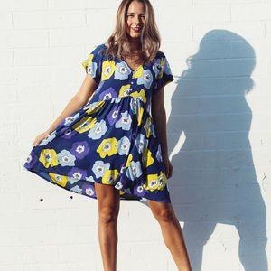 Ava Sky Babydoll Dress S Aloha Poppy M Manuhealii